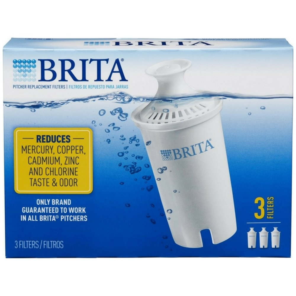 Brita SYNCHKG062447 Water Pitcher Replacement Filters, White 3 ea(Pack of 2), 6 Pack by Brita