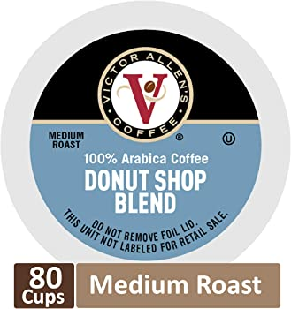 80-Count Victor Allen Coffee Donut Shop Single Serve K-cup