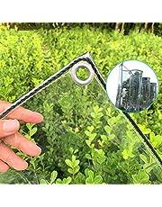 Tarp-dekzeil Transparant Zeildoek Met Doorvoertules, Dikker, Regendicht Plastic Doorzichtig Zeildoek, Duurzame PVC-pergola-terrasdakafdekking, 15,9 Oz / 22,9 Oz(Color:0.3mm,Size:2×6m)