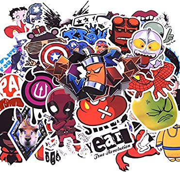 TUDUDU 50 Pcs/Pack D1 Anime Pegatina Niños Juguete Cool Pegatinas ...