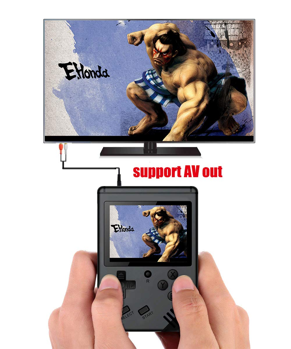 xinguo Handheld Game Console, Portable Game Console 3.0 Inch Screen with 313 Classic Games, Retro Game Console Can Play on TV, Good Gifts for Children. (Matte Black) by xinguo (Image #6)