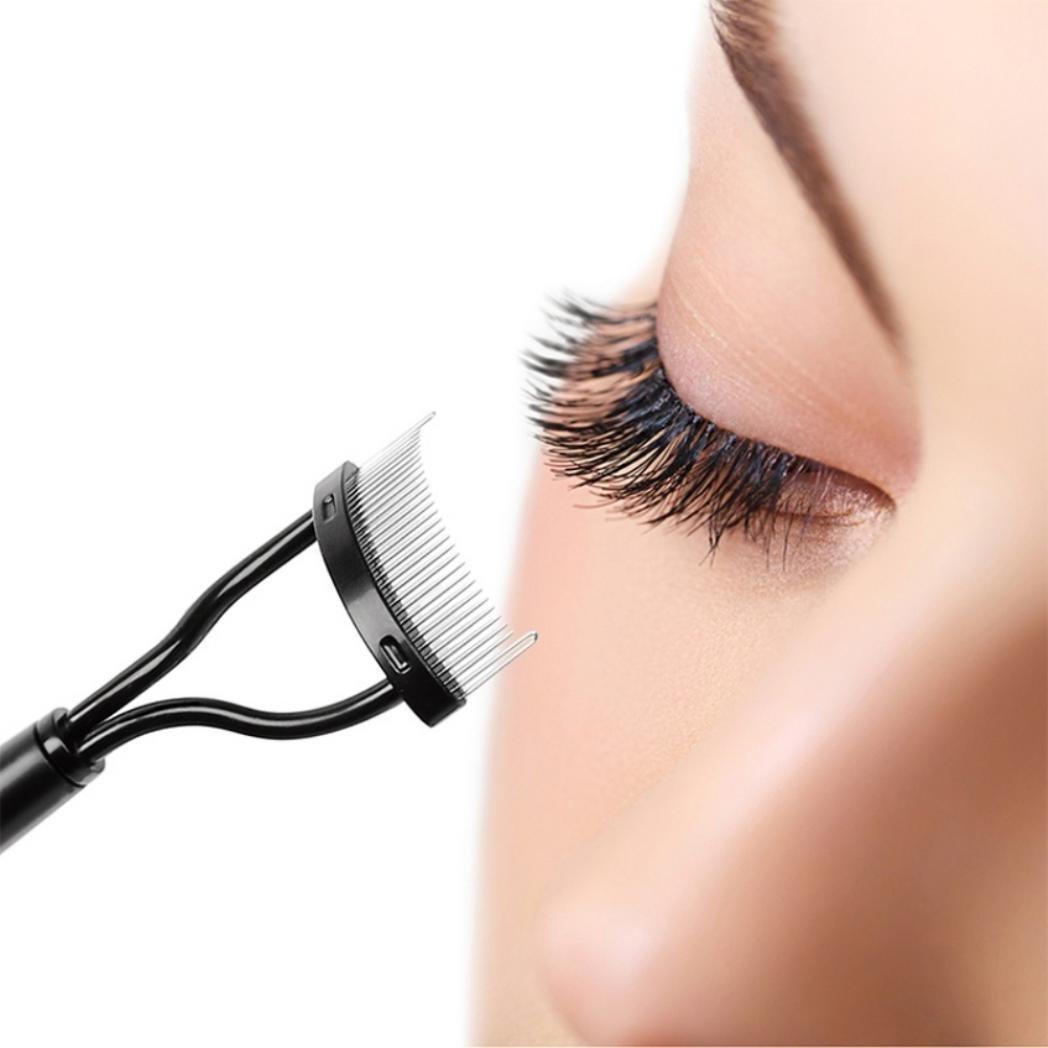 Bodhi2000 Eyelash Comb Eyebrow Brush Cosmetic Brush Mascara Applicator Makeup Tool