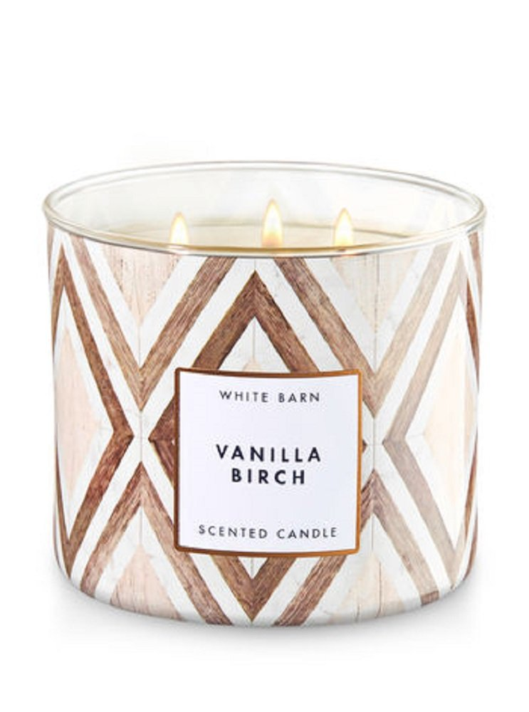 Bath /& Body Works 3-Wick Candle in Vanilla Birch