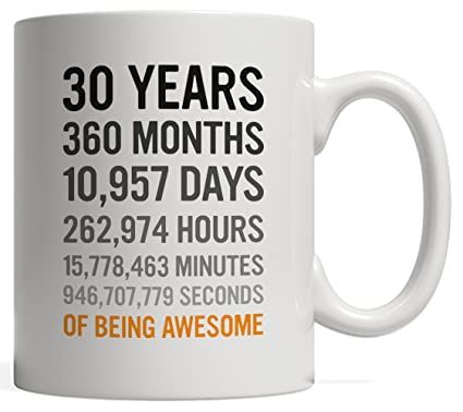 Amazon 30th Birthday Gift 30 Thirty Years Old Months Days