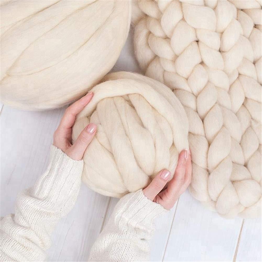 Wholesale Milk Thick Hand Knitting Giant Merino Wool Yarn Super Chunky 2.2lbs