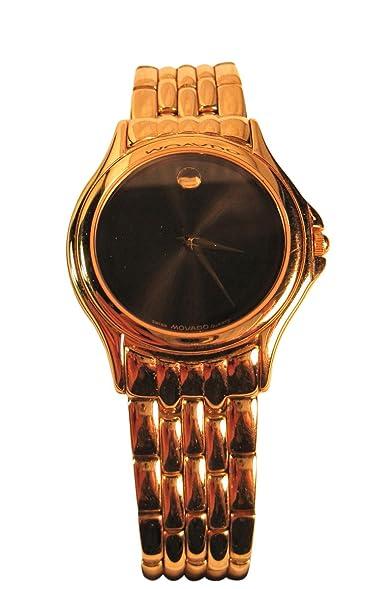 Movado Mens Classic Gold Metal Link Design Wristwatch, #87-D1-863,