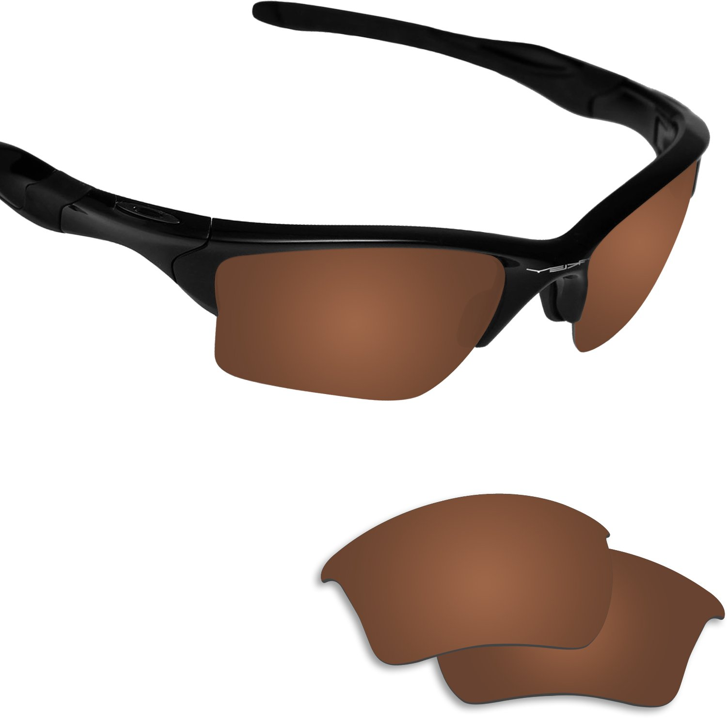 Fiskr Anti-saltwater Polarized Replacement Lenses for Oakley Half Jacket 2.0 XL Sunglasses by Fiskr