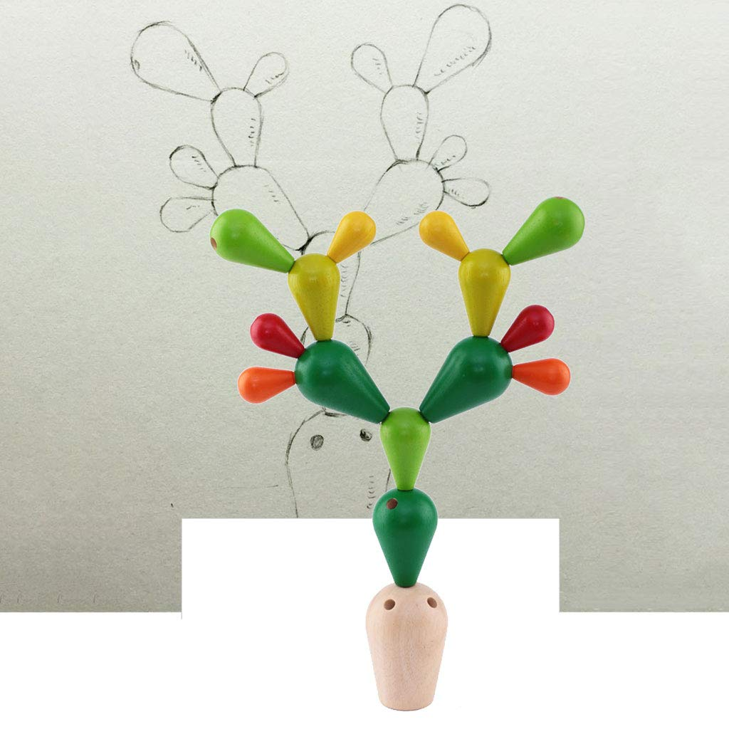 HXGL-Toys Wooden Prickly Pear Multi-Colored Toy Balance Children's Gift (Color : Green) by HXGL-Toys (Image #4)