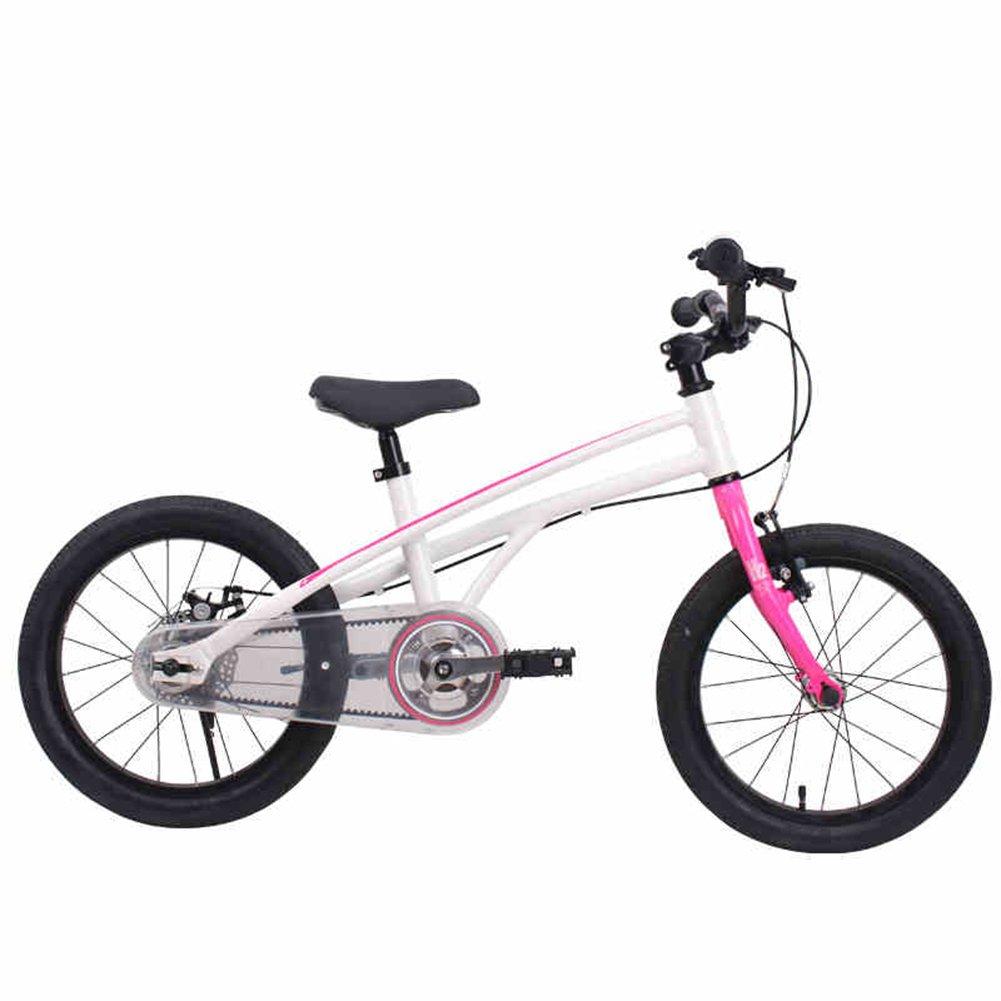 XQ H-2非常に軽い子供用自転車3-6歳の男性と女性の赤ちゃんの赤ちゃんのキャリッジ自転車ピンク ホワイト14/16/18インチ 子ども用自転車 ( 色 : Pink white , サイズ さいず : 16inch ) B07C5JZQ4X 16inch|Pink white Pink white 16inch