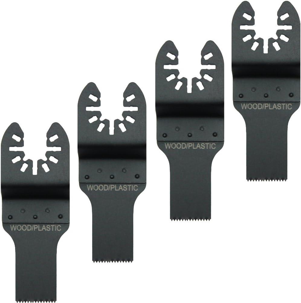 B2: 4x S/ägeblatt Holz 20mm Segments/ägeblatt S/ägeblatt HM Diamant Titan Bi Metall Holz f/ür Multimaster Multifunktionswerkzeug Multimaxx Bosch Fein Makita Worx Einhell DeWalt BLACK /& DECKER