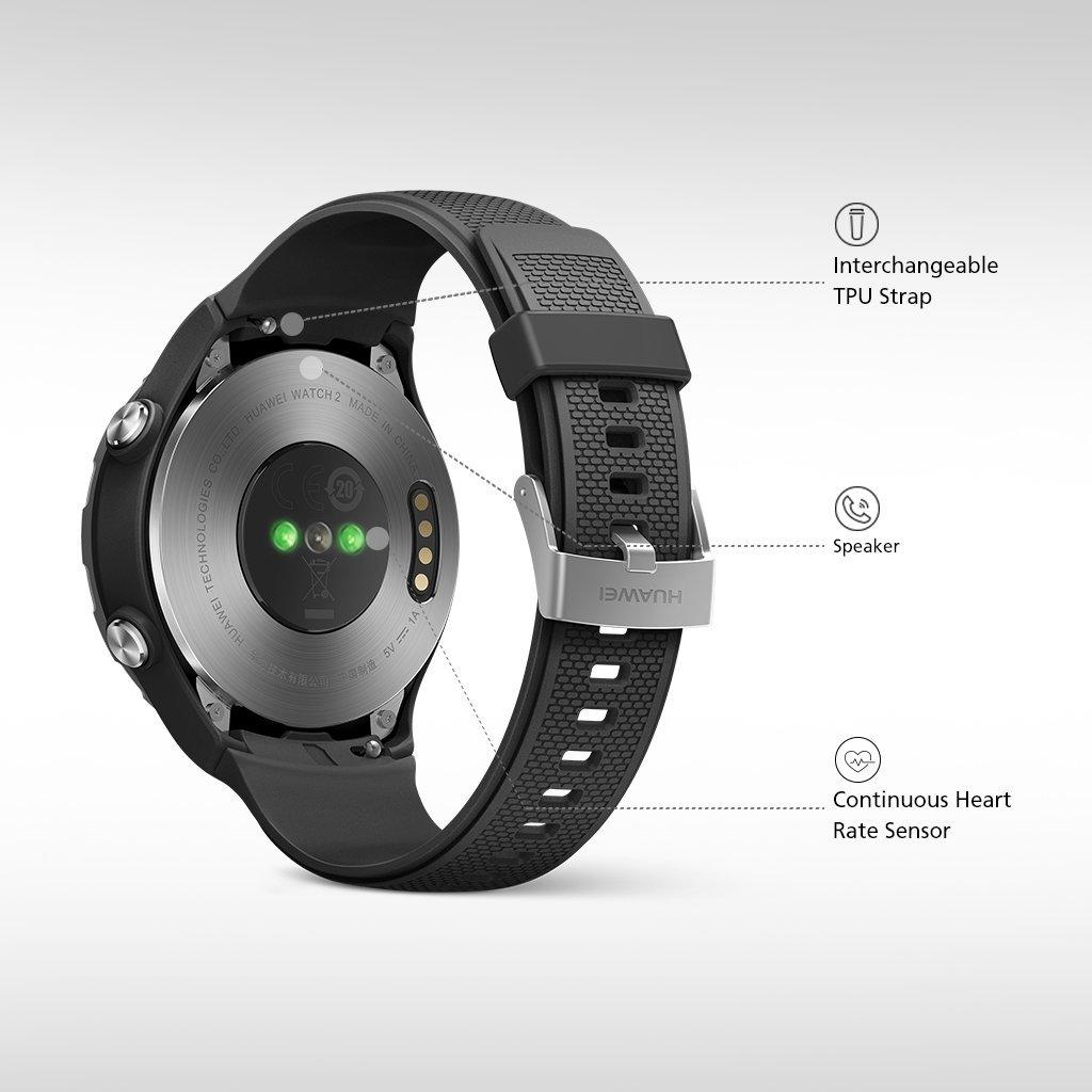 Huawei Watch 2 Sport Smartwatch - Ceramic Bezel - Carbon Black Strap (US Warranty) by Huawei (Image #4)