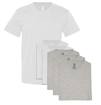 e088c05c0ba Image Unavailable. Image not available for. Color  Fruit of the Loom Men s  6 Pack V-Neck T-Shirt ...