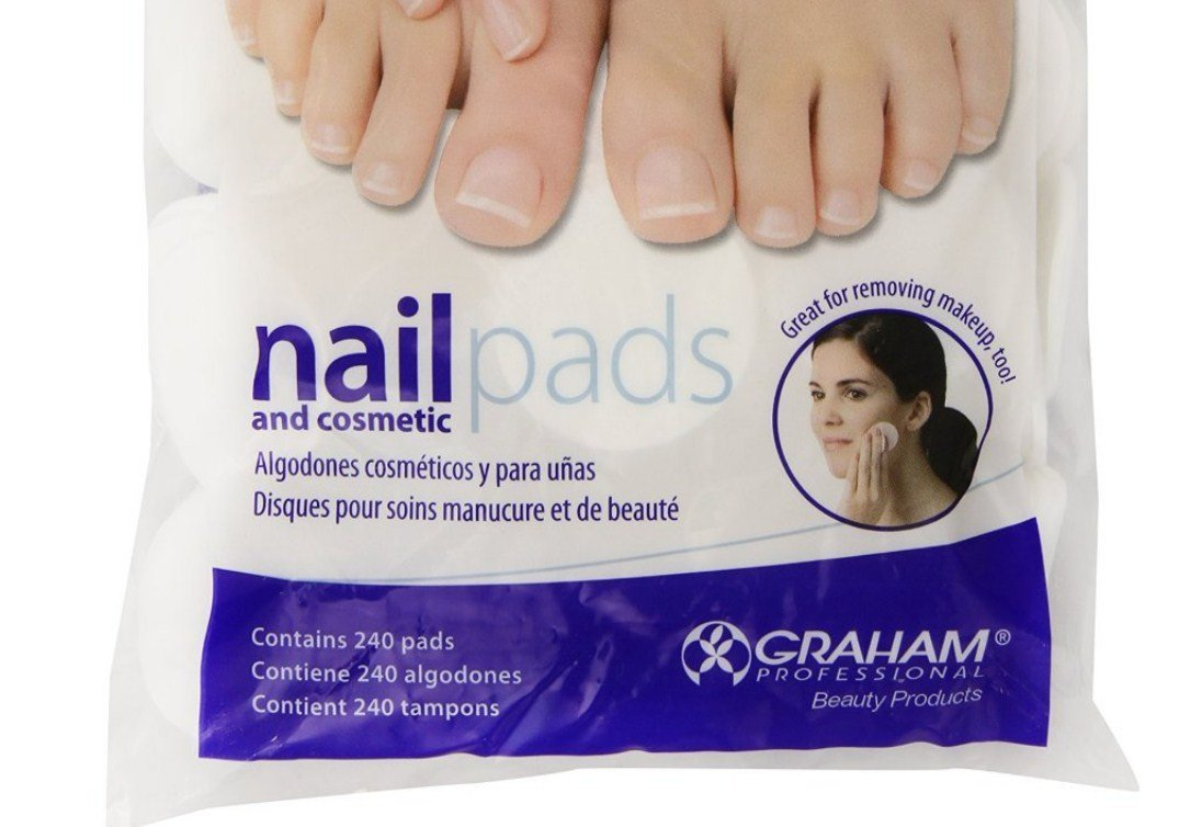 Amazon.com : Graham HandsDown Ultra Nail Pad and Cosmatic Lint Free Nail Wipes for Gel Nails & Nail Art - Contains 240 pads (Pack of 3) : Beauty