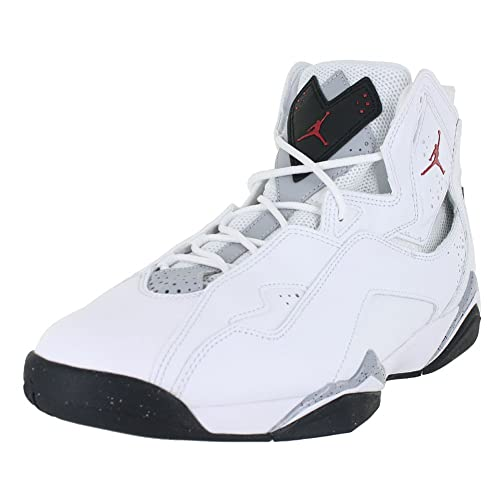 competitive price 478ee 1fd6d Image Unavailable. Image not available for. Color  Jordan Mens True Flight  White Gym RED Black Wolf ...