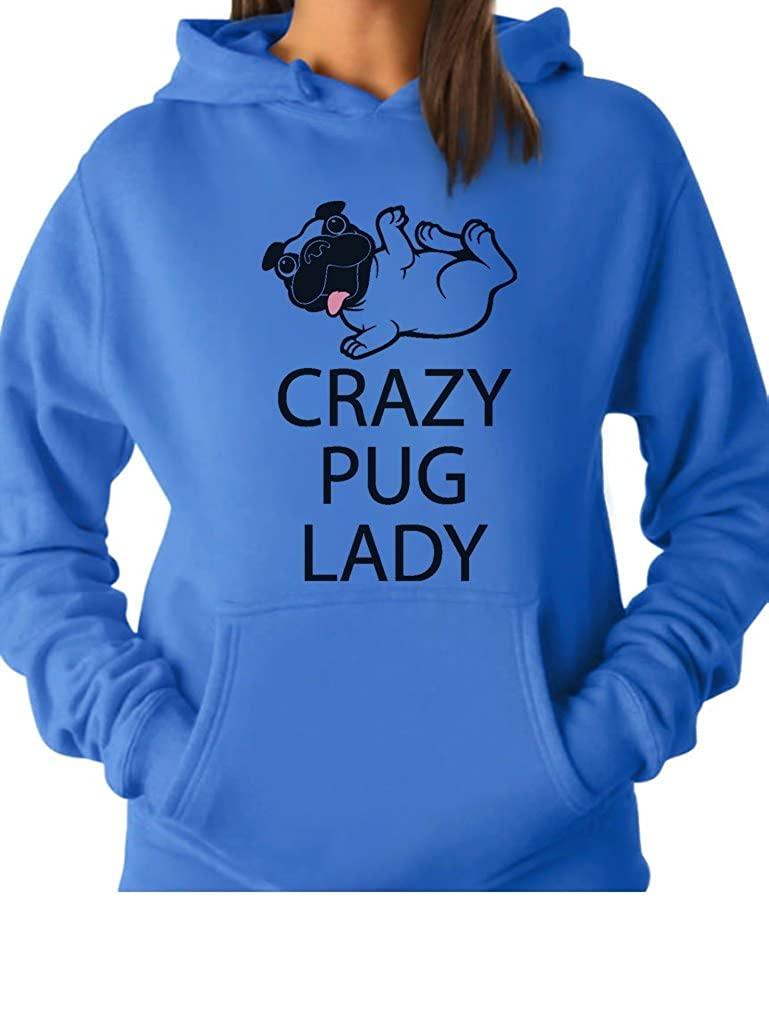 TeeStars - Crazy Pug Lady Gift for Dog Puppy Lover Funny WomenHoodie GhPhM03gK
