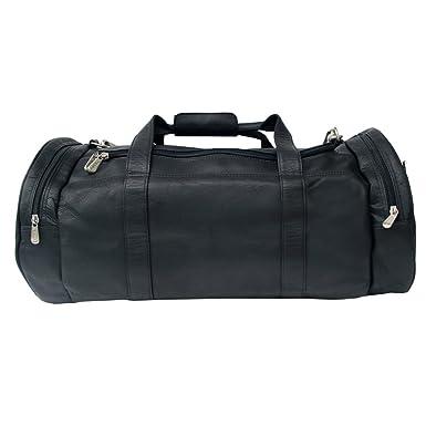 Piel Leather Gym Bag Black One Size