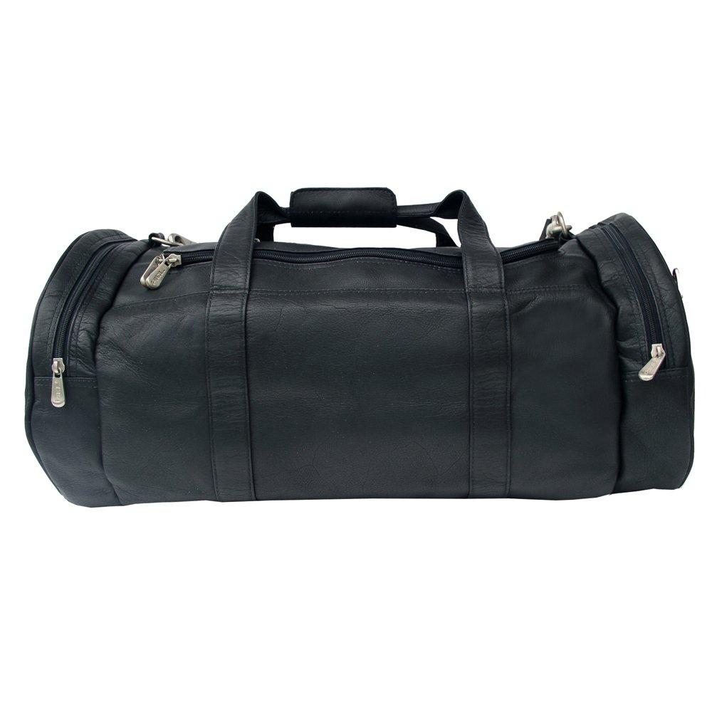 Piel Leather Gym Bag, Black, One Size
