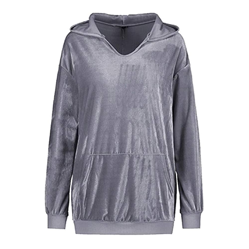 Cromoncent Womens Loose Pullover Hooded Spliced Blouse Long Sleeve Sweatshirts Clothing Fashion Hoodies & Sweatshirts
