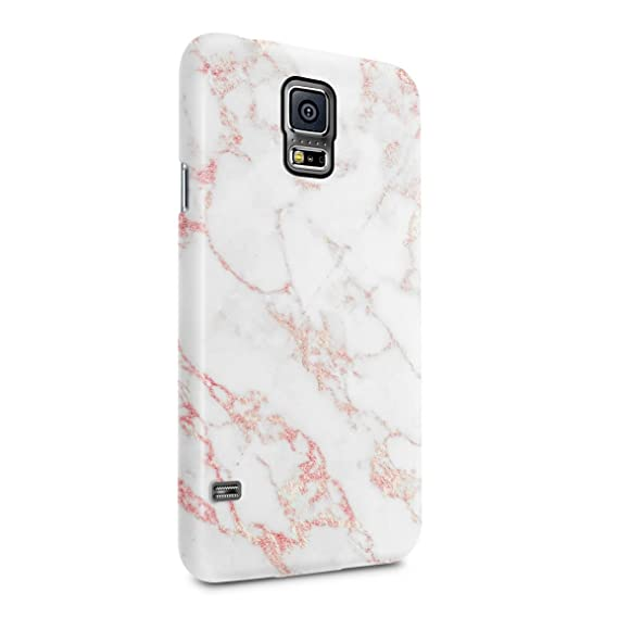 promo code 353b5 19ae6 White & Raspberry Pink Strips Marble Print Hard Plastic Phone Case for  Samsung Galaxy S5