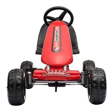 Missley Niños Karts Go-Kart Mini Coche de Pedales 4 Ruedas para 2-6 Años (Rojo): Amazon.es: Juguetes y juegos