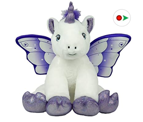 36a96a962e3 Amazon.com  Stuffems Toy Shop Record Your Own Plush 16 inch Crystal ...
