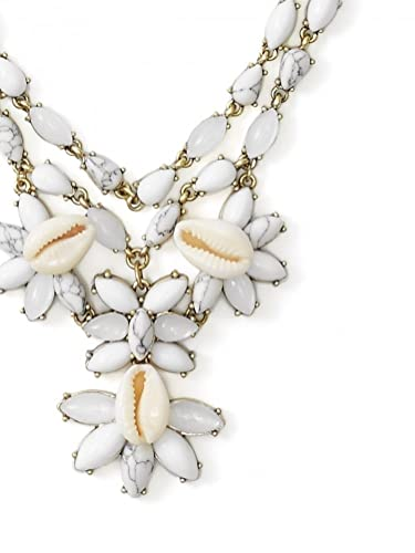 Amazon com: Anthropologie Malana Shell Necklace by BaubleBar
