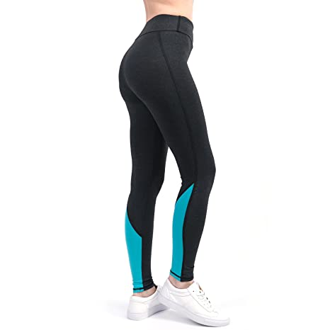 ae8eda1757b RoxZoom Women s Activewear Workout Yoga Leggings Capri Pants Color Blocking  Gym Tights - Blue