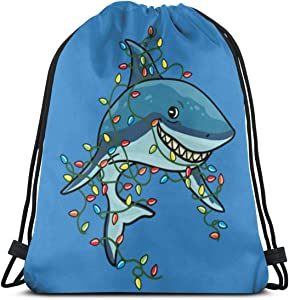 Tangled Shark Christmas Lights Light Bag Classic Drawstring Backpack