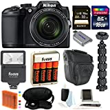 Nikon COOLPIX B500 Digital Camera w/48GB Memory Card & Flash Bundle