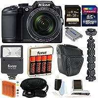 Nikon COOLPIX B500 Digital Camera w/ 48GB Memory Card & Flash Bundle