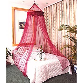 Dreamma Red Wine Color Bed Canopy Mosquito Net