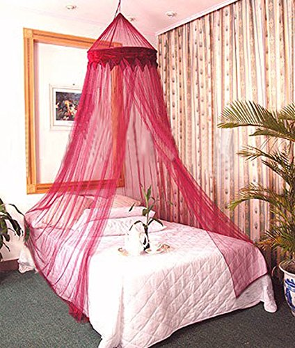 [Dreamma] Red Wine Color Bed Canopy Mosquito Net