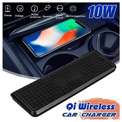 Cargador Inalámbrico Coche 10W Qi Wireless Carga Rápida Caso ...