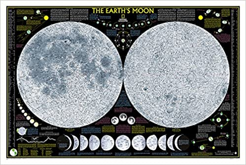 National Geographic Earths Moon Wall Map 425 X 285 Inches