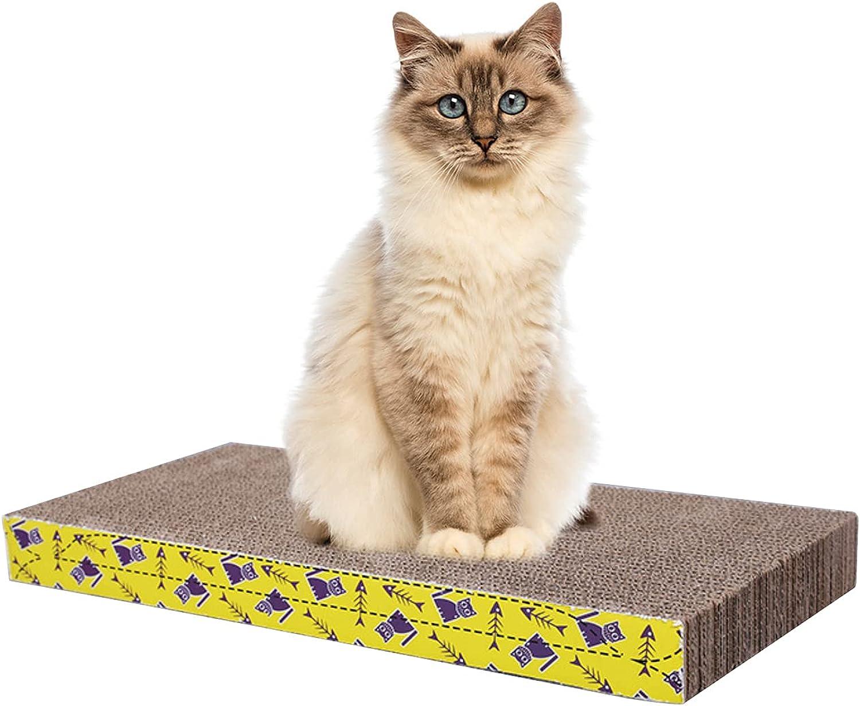 ANNCED Cat Scratcher Pad Cat Scratcher Toy Cat Scratch Pad with Furniture Protectors Yellow