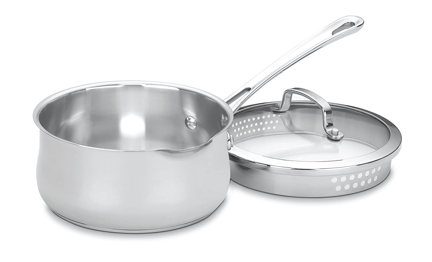 Cuisinart 419-18P Contour Stainless 2-Quart Pour Saucepan with Cover