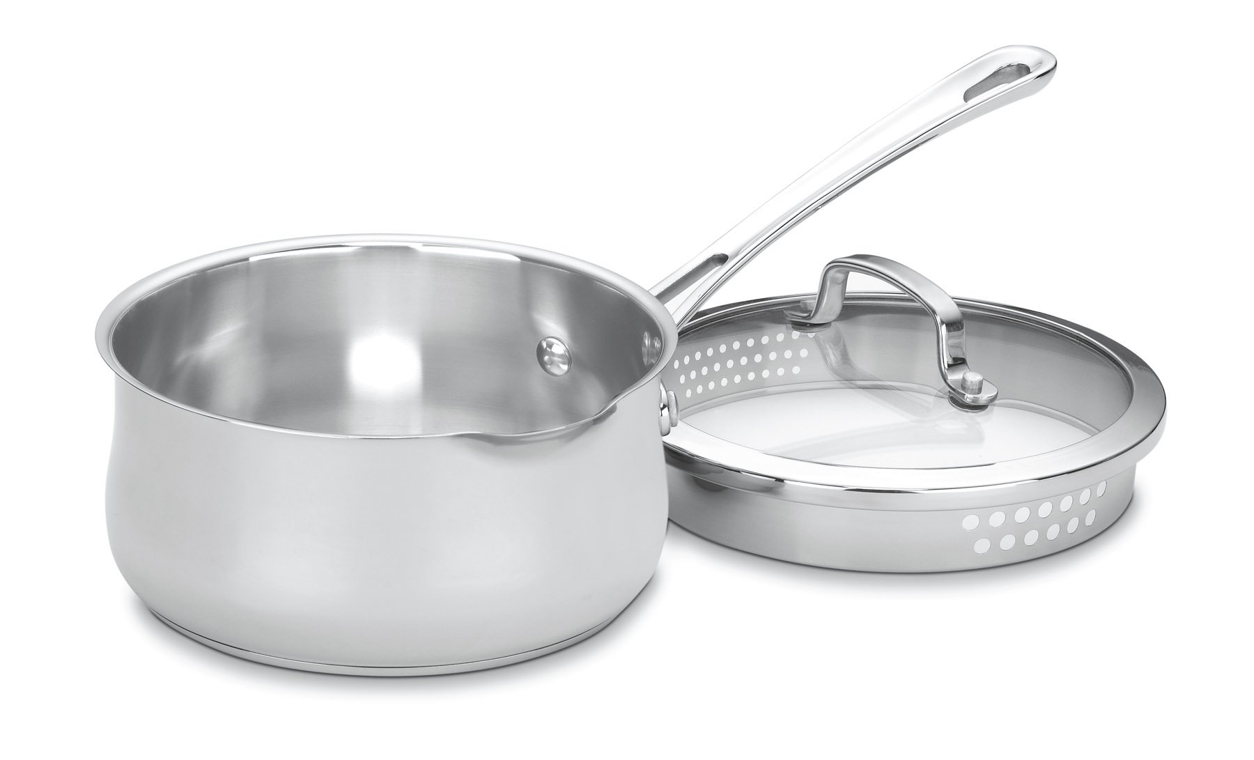 Cuisinart 419-18P Contour Stainless 2-Quart Pour Saucepan with Cover by Cuisinart