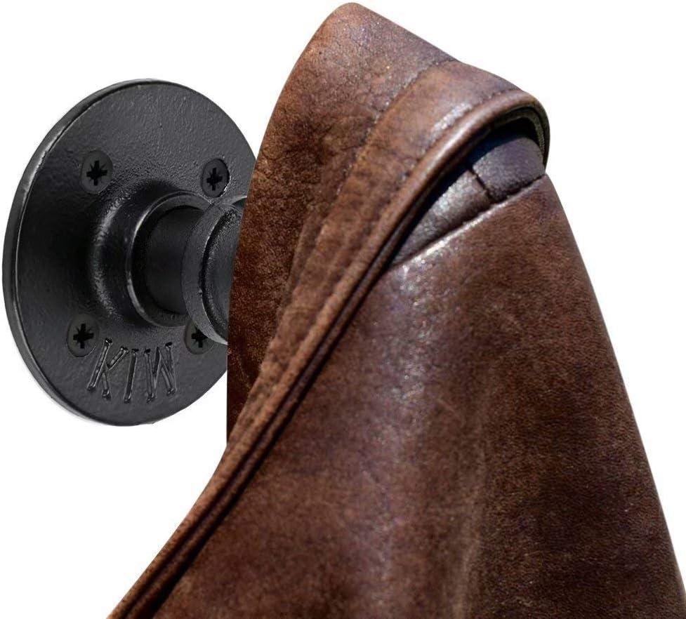 JAHQ 3Handtuchhaken Schwarz aus Metall im Industrial Design sehr Stabil auch als Kleiderhaken