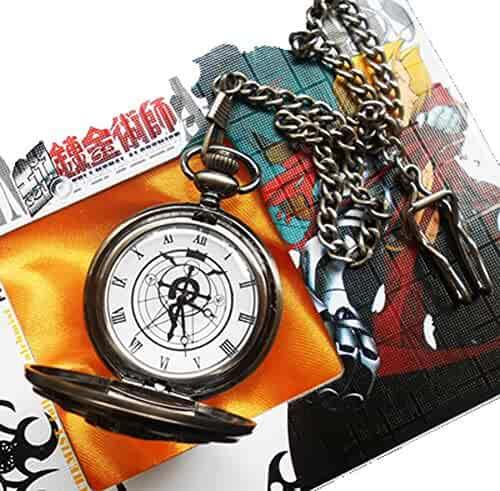 Touirch Anime Fullmetal Alchemist Edward Elric's Gift Birthday Pocket Watch Cosplay