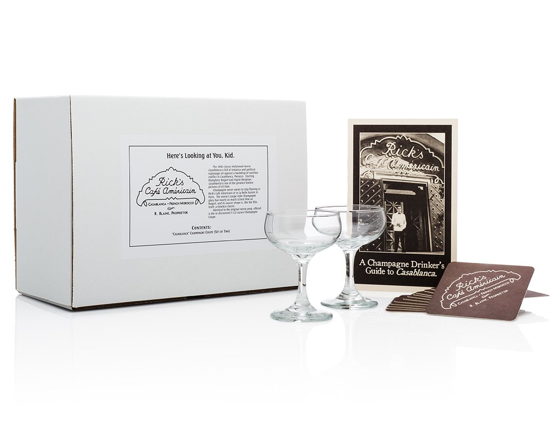 """Casablanca"" Champagne Coupe Set (from Rick's Cafe) HISTORY COMPANY B008AI5STW"