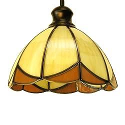 eTopLighting Las Elite Collection One Light Tiffany Hanging Pendant Kitchen Island Indoor Decor Light Fixture APL1234