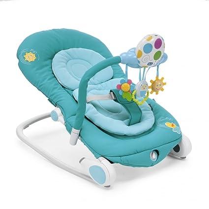 Sedia Dondolo Chicco.Sedia A Dondolo Altalenante Per Bebe Chicco Balloon Colore Celeste