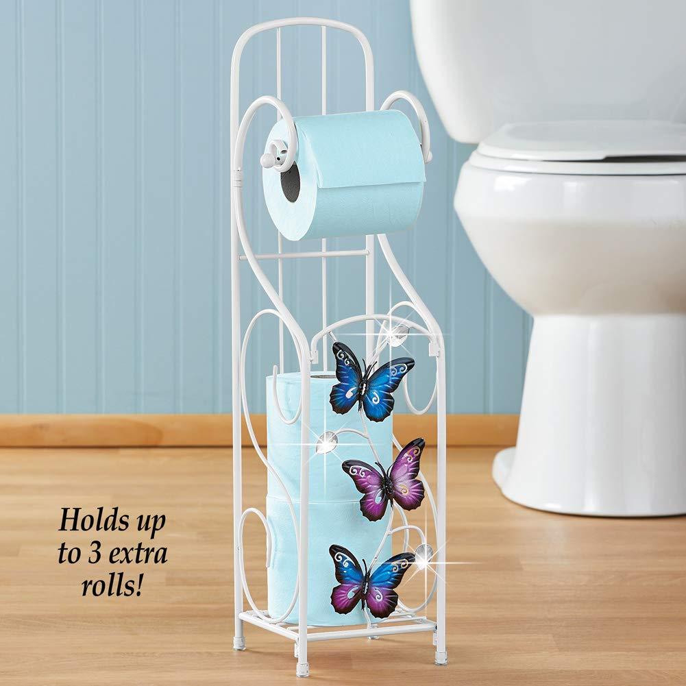 3  rolls Watercolor floral fabric Toilet Rolls Holder storage bath decor