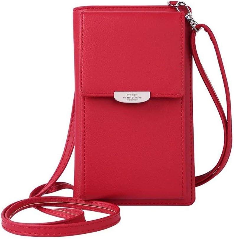 HMILYDYK Frauen Brieftasche Cross-Body Tasche Leder Geldbörse Handy Mini-Tasche Kartenhalter Schulter Brieftasche Tasche: Amazon.de: Sport & Freizeit -