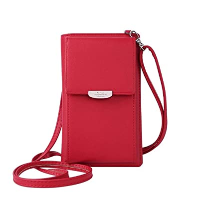 ac2c86467ad HMILYDYK Women Wallet Cross-body Bag Leather Purse Coin Cell Phone ...