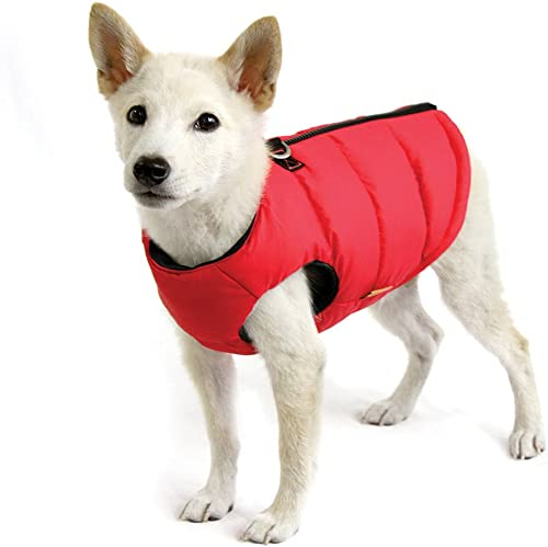 Gooby-Padded-Vest,-Dog-Jacket-Coat-Sweater-with-Zipper-Closure-and-Leash-Ring