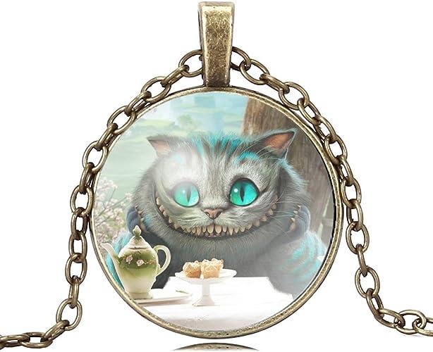 Pendant Alice in Wonderland Charm Where Should I Go Charm Cheshire Cat Charm