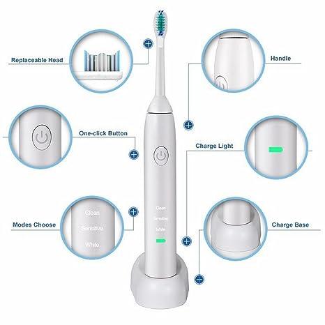 VV Limpiar Sensibles Blanqueamiento de Tres Efectos de Protección de Dientes Cepillo de Dientes Eléctrico Ultrasónico