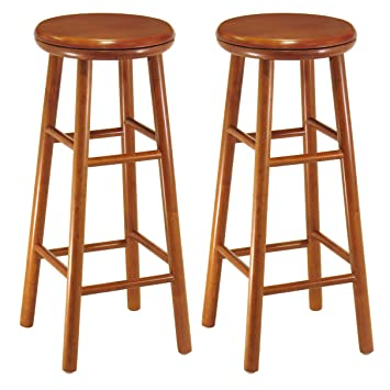 Astonishing Winsome Wood Assembled 31 Inch Cherry Finish Swivel Stools Set Of 2 Squirreltailoven Fun Painted Chair Ideas Images Squirreltailovenorg