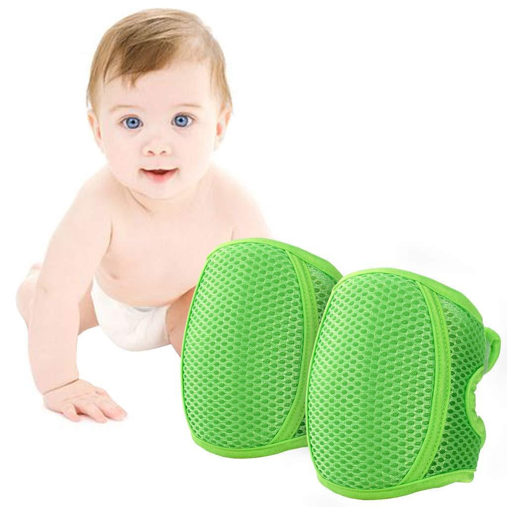 LuuBoes Knieschoner Baby Krabbeln Kleinkind Knie Kriechende Schutz Anti-Rutsch Gummipunkte Verstellbarer Protektoren